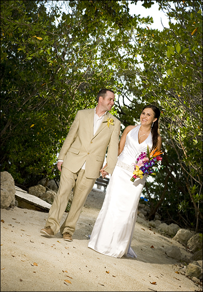 Bride and groom Islamorada