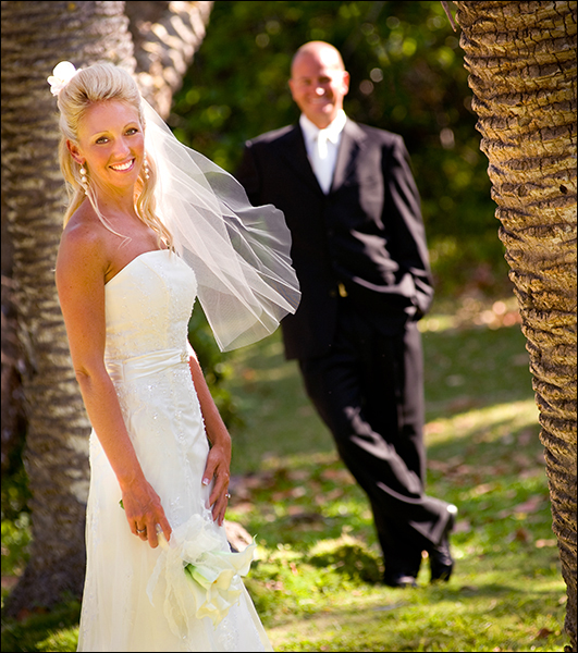 Bride and groom in Park Fort Lauderdale